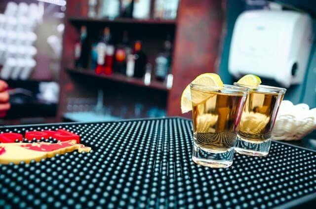Tequila a bárpulton