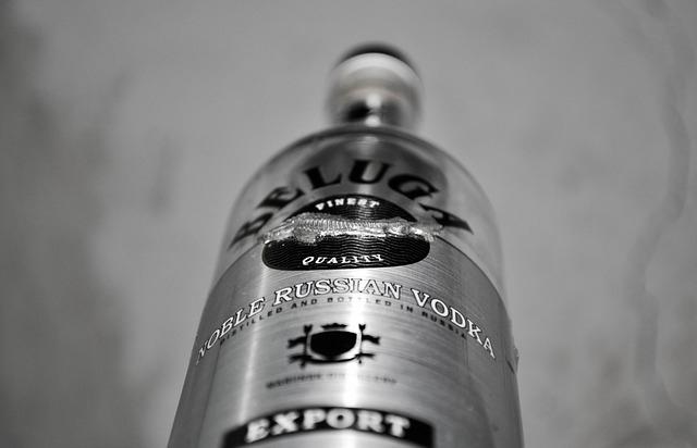 Beluga vodka üvege