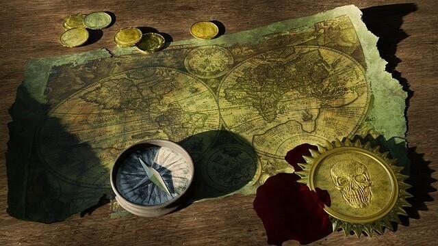 Kalóz kincses térkép