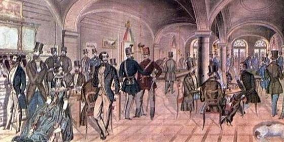 Pilvax kávéház az 1800-as években