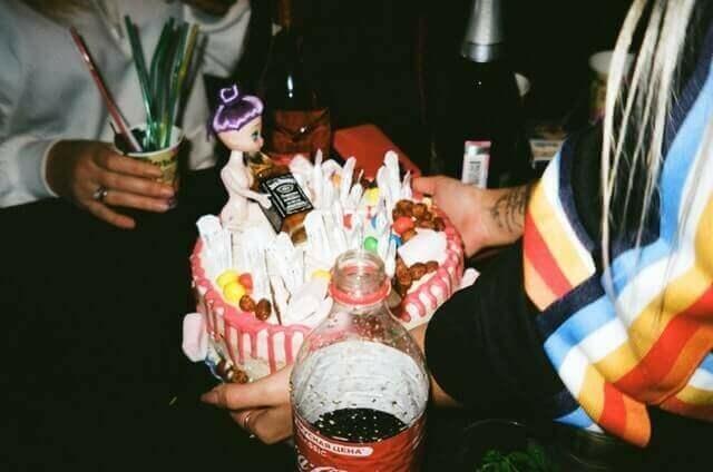 Alkoholos születésnapi torta