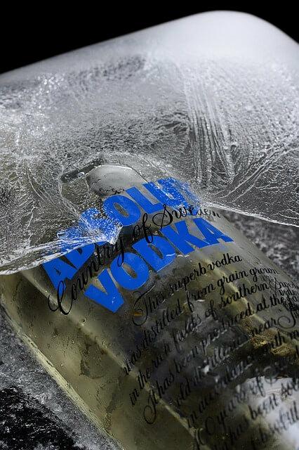 Absolut Vodka jégbe hűtve