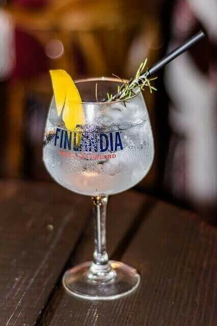 Finlandia vodka pohárban
