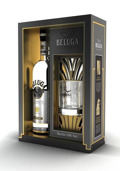 Beluga Vodka díszdobozban