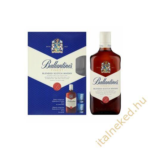 Ballantines Whisky + 2 pohár DD (40%) 0,7 l