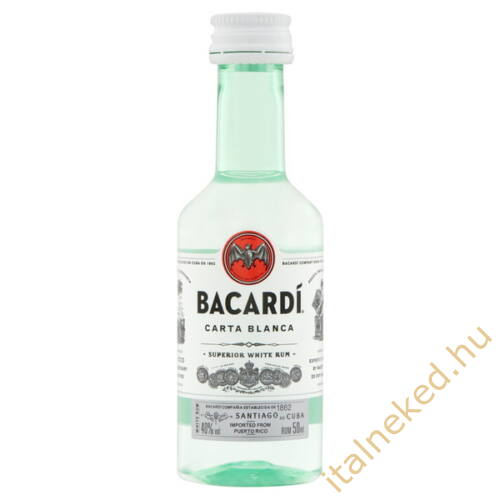 Bacardi Blanca Superior mini(40%) 0,05l