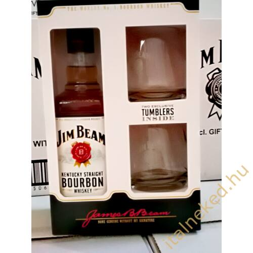 Jim Beam Whiskey + pohár (40%) 0,7 l