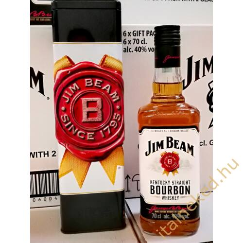 Jim Beam Whiskey (fémdobozban) (40%) 0,7 l