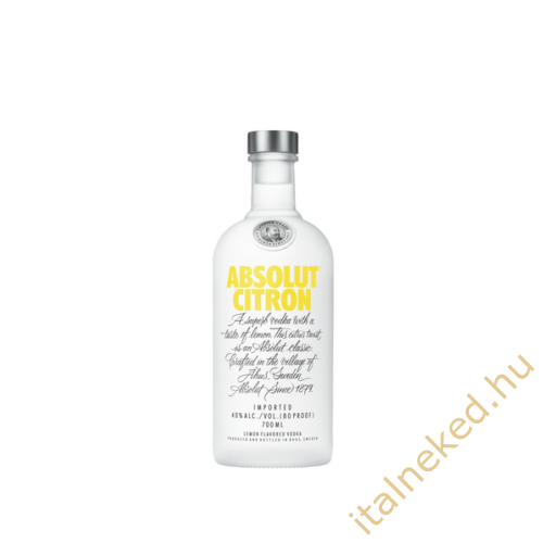 Absolut Citrom Vodka (40%) 0,7 l