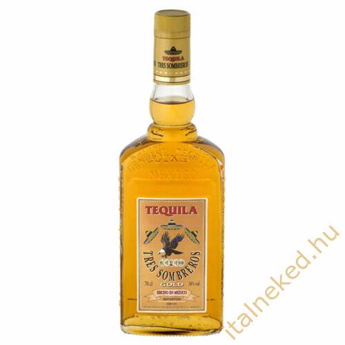 Tres Sombreros Gold Tequila 0,7l (38%)