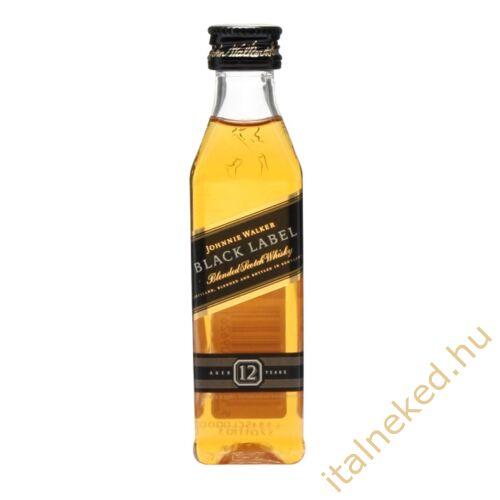Johnnie Walker Black whisky mini (40%) 0,05 l