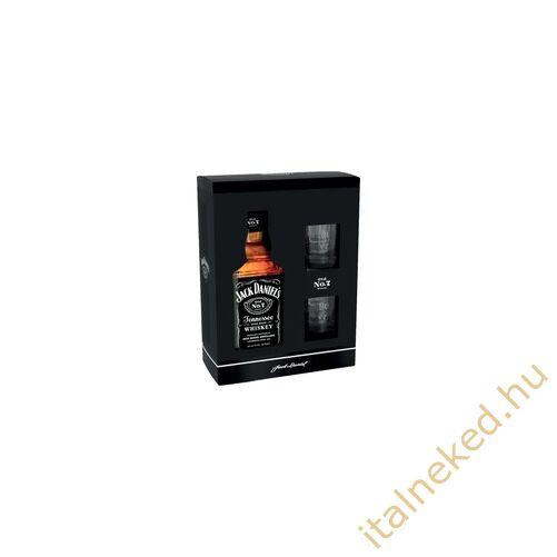 Jack Daniels Whiskey + 2 pohár, papírdobozos (40%) 0,7 l