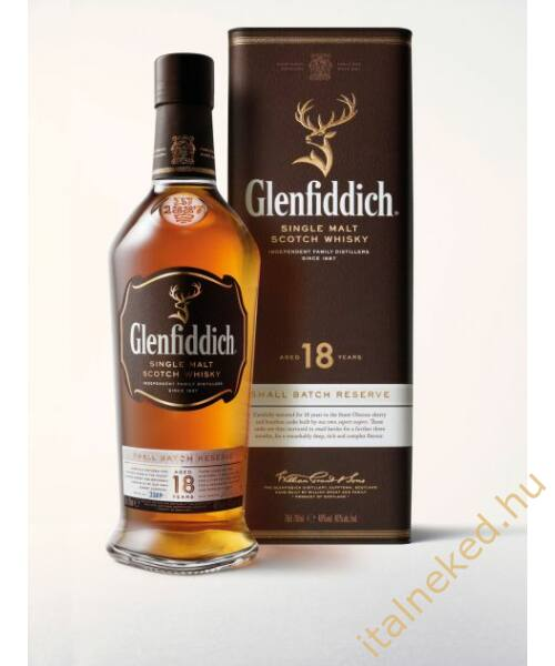 Glenfiddich 18 Year Old Whisky (40%) 0,7 l