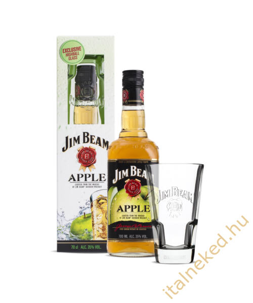 Jim Beam Apple Whiskey + pohár (35%) 0,7 l