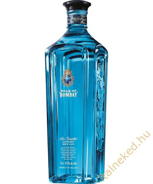 Star of Bombay gin (47,55%) 1,0 l