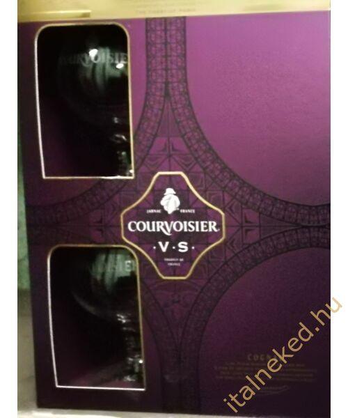 Courvoisier V.S. Konyak (díszdoboz + 2 pohár) (40%) 0,7 l