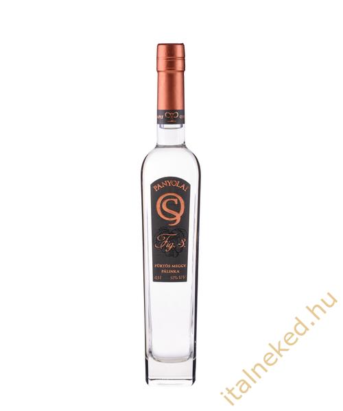 Panyolai SQ Fürtösmeggy pálinka (baseball üveg) (40%). 0,5 l