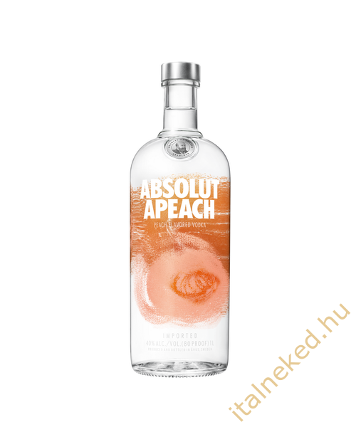 Absolut Apeach  Őszibarack Vodka (40%) 1 l