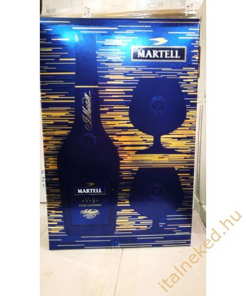 Martell V.S. konyak (DD + 2 pohár) (40%) 0,7 l