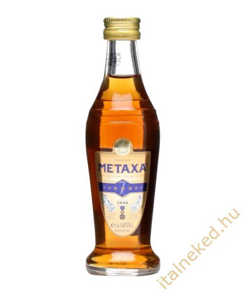 Metaxa  7* konyak mini (40%) 0,05 l