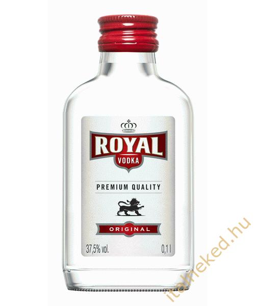 Royal vodka lapos üveg (37,5%) 0,1