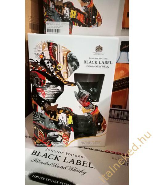 Johnnie Walker Black Label Whiskey (díszdobozban + 2 pohár) (40%) 0,7 l