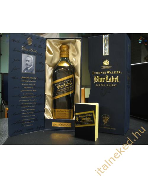 Johnnie Walker Blue Label Whiskey (papír díszdobozban) (40%) 0,7 l