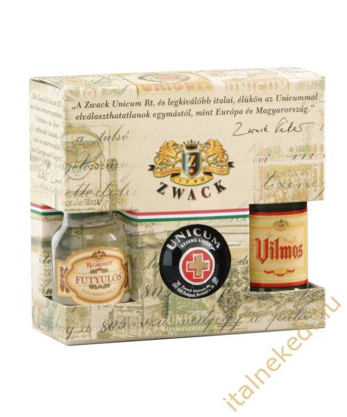 Magyar Mini Pálinka kollekció (unicum 40%, fütyülős 30%, vilmos  37,5) 0,05 l